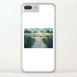 Bridge To Beach Clear iPhone Case
