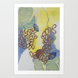 Mid Air Fragmentation Art Print