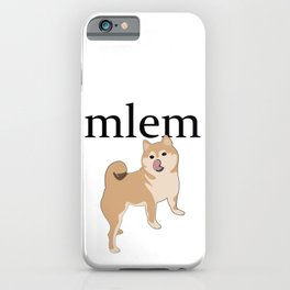 Shiba mlem iPhone Case