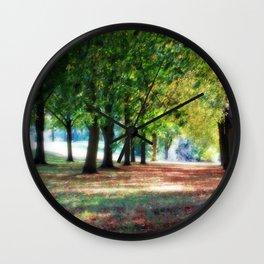 Autumn Walk Wall Clock