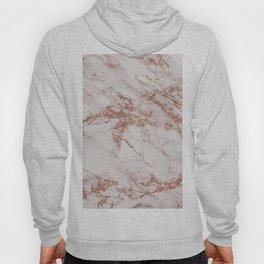 Trendy elegant rose gold glitter gray marble Hoody