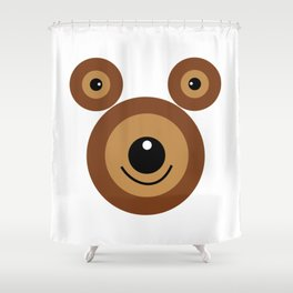 Funny bear face Shower Curtain