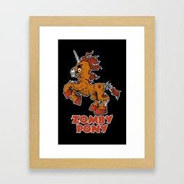 ZombyPony Framed Art Print