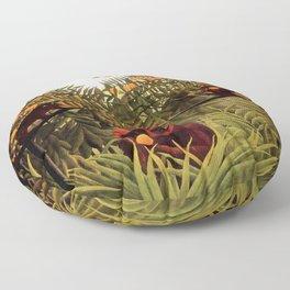 "Henri Rousseau ""Apes in the Orange Grove"" Floor Pillow"