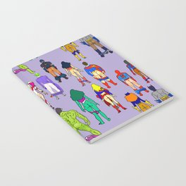 Superhero Butts - Power Couple on Violet Notebook