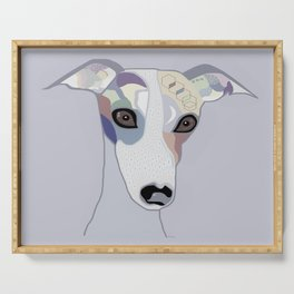 Whippet in Denim Colors Serving Tray