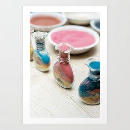 Colourful Sand Art Print