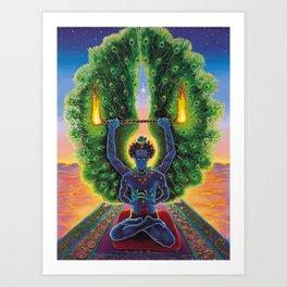 Melek Ta'us (The Peacock Angel) Art Print
