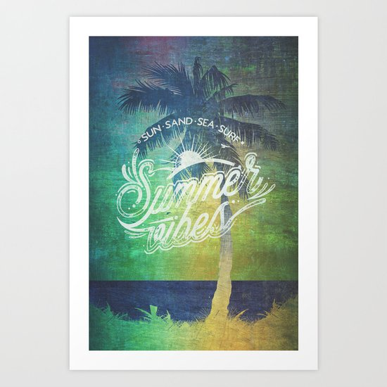 Summer vibes - Mashup edition Art Print