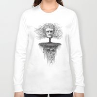edgar allen poe Long Sleeve T-shirts featuring Edgar Allan Poe, Poe Tree by Newmanart7 -- JT and Nancy Newman, Art a
