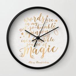 Dumbledore's Magic Words Wall Clock
