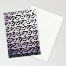 Rows of Flowers, Purple Stationery Cards