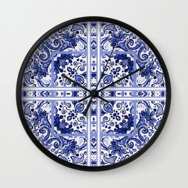 Blue drama Wall Clock