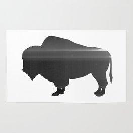 Buffalo print, Black & White Rug