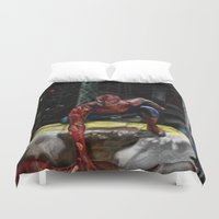 comic book Duvet Covers featuring comic by Fila Venom Art