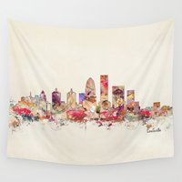 kentucky Wall Tapestries featuring louisville kentucky by bri.buckley