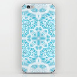 Blue Square Mandala iPhone Skin