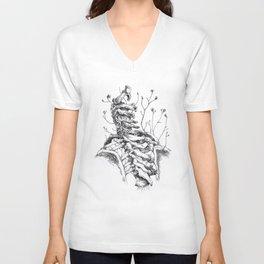 Sono crepe e spine che avanzano tra le vertebre. Unisex V-Neck