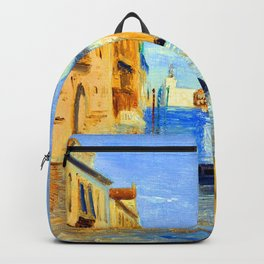 Jean Baptiste Camille Corot View of Venice Backpack