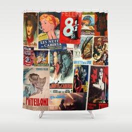 Federico Fellini Montage 1 Shower Curtain
