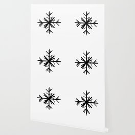 Christmas Winter Snowflake: Black Wallpaper