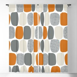 Wonky Ovals in Orange Blackout Curtain