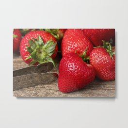 Fresh Strawberries 3 Metal Print