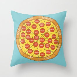 Pizza Feeling Wheel - An Emotion Wheel for Children and Adolescents Throw Pillow