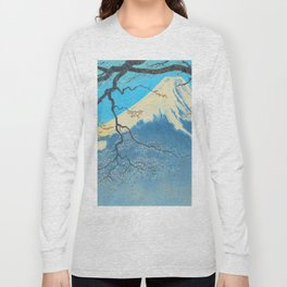 Tokuriki Tomikichiro Thirty Six Views of Mt Fuji From Harajiku Pine Forest Japanese Long Sleeve T-shirt