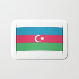 Flag of Azerbaijan. The slit in the paper with shadows. Bath Mat
