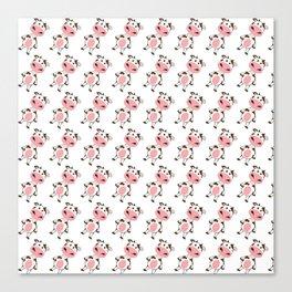 Cow Love Animal Art-pattern Canvas Print