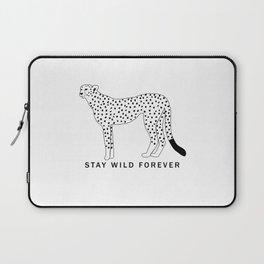 Stay wild forever - black leopard Laptop Sleeve