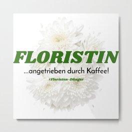 Florist And Coffee Metal Print
