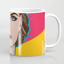 Beautiful Pop Art Woman Ingrid with Hat Coffee Mug