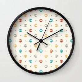Pattern Skulls Color Wall Clock