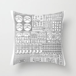 Music Machine Throw Pillow