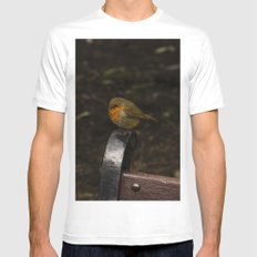 Resting Robin Mens Fitted Tee MEDIUM White