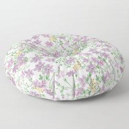 Winter Blooms Pattern Floor Pillow