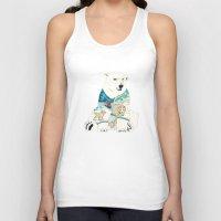 polar bear Tank Tops featuring Polar Bear by Yuliya