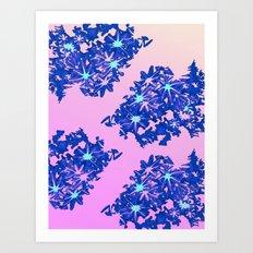 coral / floral Art Print