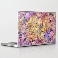 nudes Laptop & iPad Skins featuring Nudes in Flowers by Klara Acel
