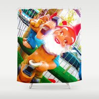 gnome Shower Curtains featuring Gnome Lover by Cristhian Arias-Romero