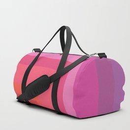 Vivid Vibrant Geometric Rainbow Duffle Bag
