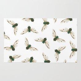 Cicada Jewels (White & Noir) Rug