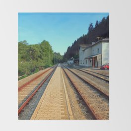 Haslach railway station | architectural photography Throw Blanket