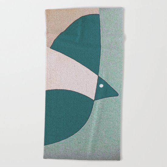 L'uccello in Volo Beach Towel