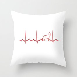 German Shepherd Heartbeat Throw Pillow