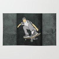 skateboard Area & Throw Rugs featuring Skateboard 11 by Aquamarine Studio