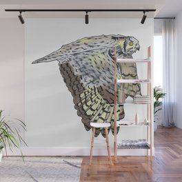 Great Horned Owl Wall Mural
