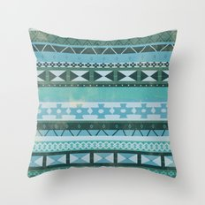 Native Spirit (cool version) Throw Pillow
